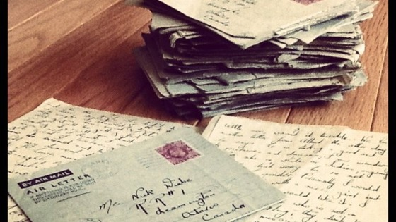 A pile of the love letters found