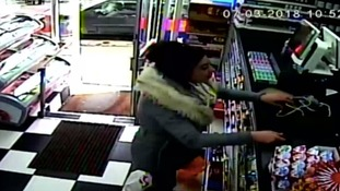 CCTV of missing woman