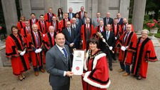 Rugby's Rory Best awarded Freedom of Borough in Armagh