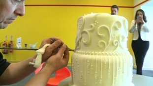 The world's most expensive wedding cake, covered in more than 2000 diamonds