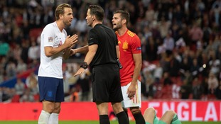 Referee 'bottled it' in England's Spain defeat says Harry Kane