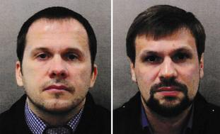 Salisbury suspects Alexander Petrov (left) and Ruslan Boshirov were getting their orders from the 'highest level' in Moscow, Sajid Javid said (Metropolitan Police/PA)
