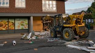 Extensive damage after ram raid