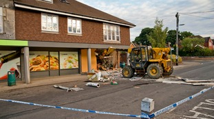 Police investigate a ram raid