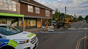 Cash machine ripped out