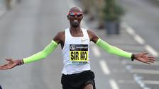 Sir Mo Farah wins the Men's Elite Race during the 2018 Simply Health Great North Run.