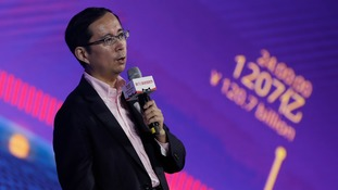 "Daniel Zhang, CEO of Alibaba Group speaks on the ""Singles' Day"" global online shopping festival in Shenzhen."