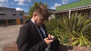 Plymouth secondary school bans mobile phones so that pupils talk to each other more