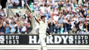Alastair Cook departed Test cricket with a century.