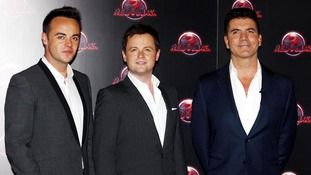 Ant and Dec on the red carpet with Simon Cowell.