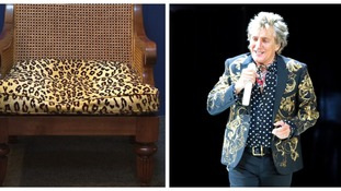 Rod Stewart's leopard-print armchair up for auction in Essex
