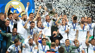 Real Madrid beat Liverpool in the 2017/18 Champions League final.