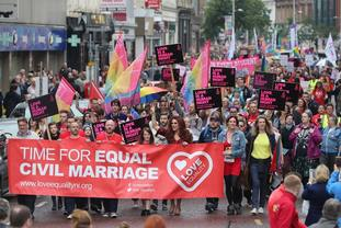 A vocal campaign has called for the introduction of same-sex marriage in Northern Ireland.