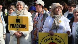 Modern Suffragettes take on Fracking