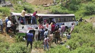 Bus crash in southern India kills at least 55 pilgrims