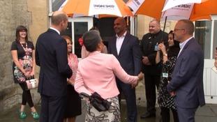 Duke of Cambridge meeting Marvin Rees