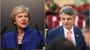 Theresa May and Ralf Speth