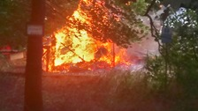 The fire happened at The People's Community Garden