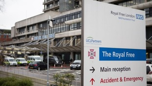 The patient was taken to the Royal Free Hospital in London.