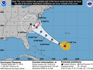 The National Hurricane Centre is the place to go for latest trajectory