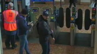 The pair were spotted on CCTV several times at Salisbury train station