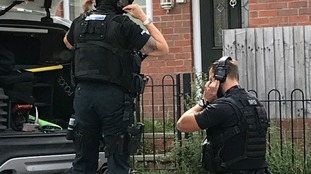 Armed police attend property in Arnold