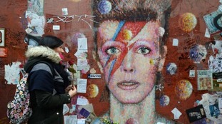 A mural of David Bowie in Brixton, London.