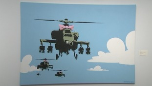 Artworks by Banksy can be purchased at the auction that is expected to raise $3m.