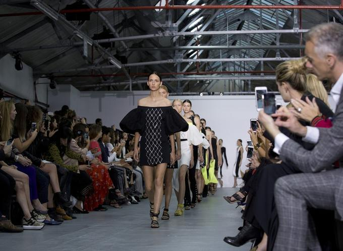 A catwalk at London Fashion Week.