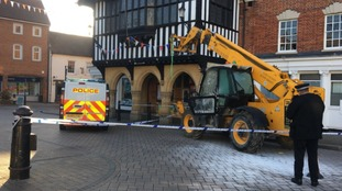 JCB used by gang of five