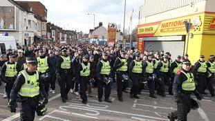 Seven arrests at Luton v Millwall FA Cup match