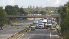 M5 crash in Somerset