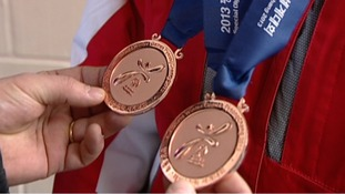 Special Olympic Skier home from South Korea with double bronze