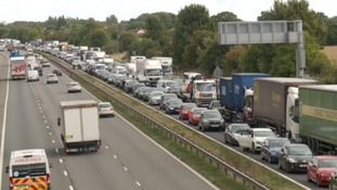 traffic queuing back on the M5