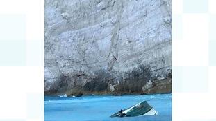 The wreckage of the Greek landslide