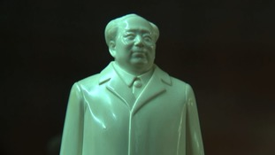 China has a long standing tradition of using ivory to carve sculptures, such as this one of Chairman Mao.