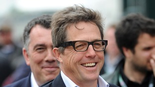 Hugh Grant post on Twitter reveals the birth of his son