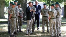 The Duke of Sussex during a visit to the Royal Marines Commando Training Centre in Lympstone, Devon.