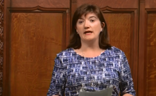 Conservative former cabinet minister Nicky Morgan addresses the Commons