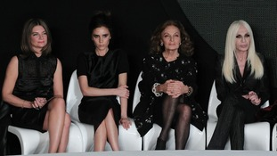 Judges (from left to right) Natalie Massenet, Victoria Beckham, Diane von Furstenberg and Donatella Versace.