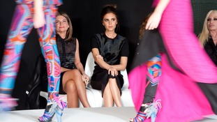 Victoria Beckham judges the 2013 International Woolmark Prize Final.