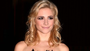 Singer Pixie Lott arrives at the show.