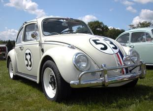 A Volkswagen Beetle in the colours of Herbie (Alistair Wilson 50/50/PA)