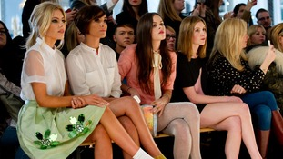 Mollie King, Frankie Sandford, Atlanta de Cadanet and Laura Carmichael watch the show.