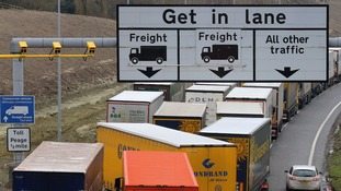 There has been warnings there could be gridlocked roads from the M25 to the Channel Tunnel in a no-deal Brexit.