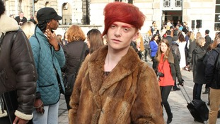 The London Fashion Show has attracted thousands of visitors.