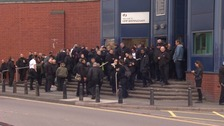 More than 100 prison officers are protesting outside HMP Birmingham over concerns of violence within jails.