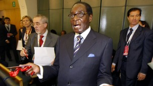 Zimbabwean president Robert Mugabe.