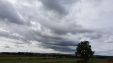The skies above Great Chesterford in Essex