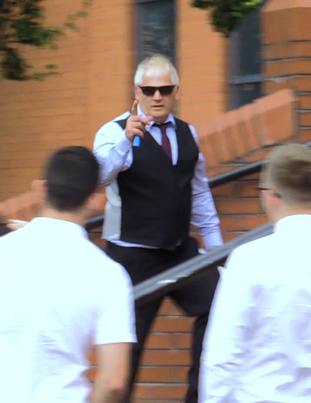 Gary Gardner arriving at Leicester Crown Court.